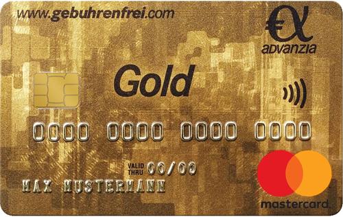 Die Gebührenfreie Mastercard GOLD Kreditkarte Kostenlos